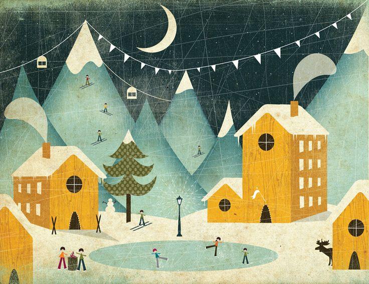 2affb2a7cf515e8dd6d74fe4e0567bd4–winter Illustration Christmas Illustration